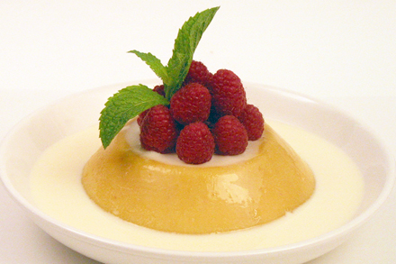 Refreshingly Cool Mango Pudding