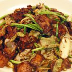 Twice Cooked Pork and Garlic Shoots
