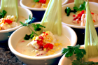 Lobster and Corn Chowder with Coconut Milk