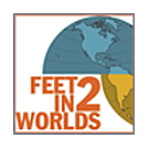 Feet in 2 Worlds logo