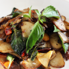 Stir-Fried Abalone Mushrooms with Purple Basil