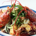 Stir-Fried Lobster in Sslted Egg Yolk Sauce