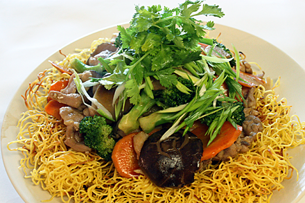 Hong Kong Style Pan-Fried Noodles