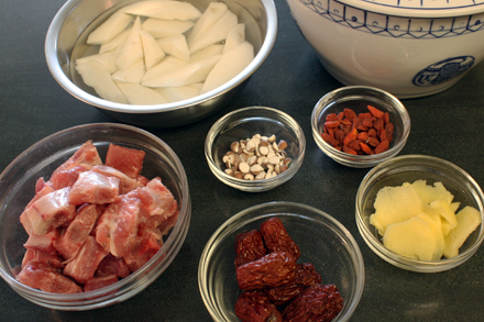 Herbal Pork Soup Ingredients