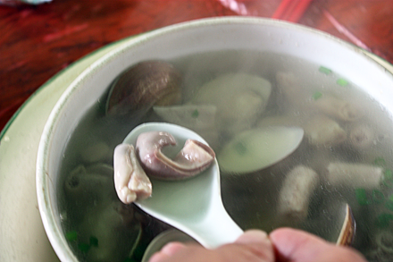 Pork Intestine and Clam Soup