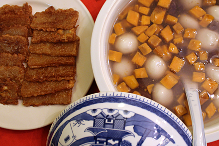Sticky New Year Cake and Mochi Ball Soup