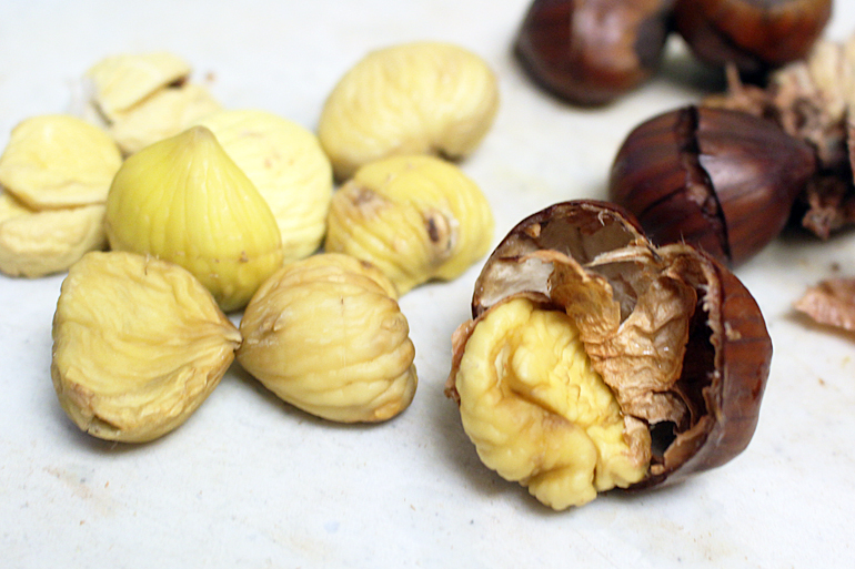 Perfectly Peeled Chestnuts