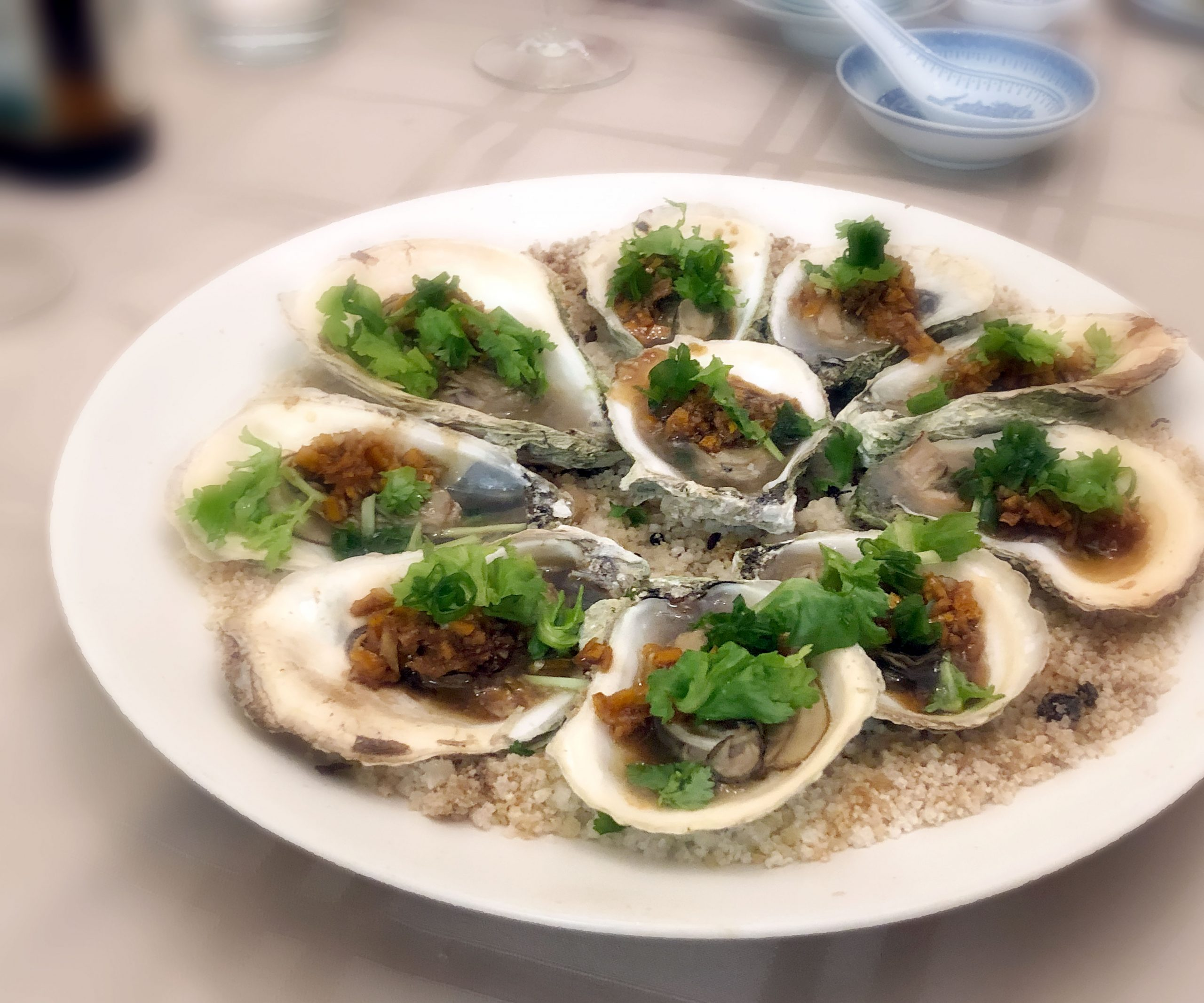 Baked Tangerine Oysters